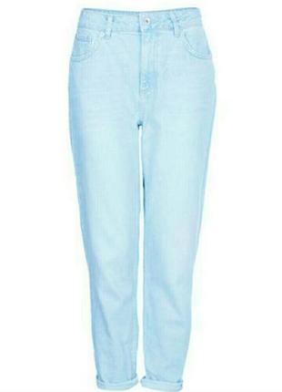 Мом джинсы высокая посадка бананы джинсы светлые marks & spencer