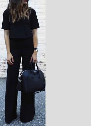 Стильные черные широкие брюки с завышенной талией windsmoor.