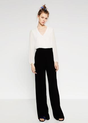 Черные широкие брюки с завышенной талией windsmoor.