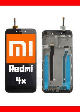 Модуль Xiaomi Redmi 4x / 4 Prime Чорний Black Дисплей экран Се...