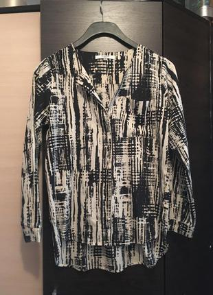 Блузка удлиненная сзади принт mapp jeans