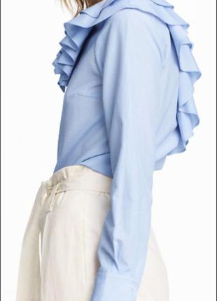 Стильная блуза h&m с воланами