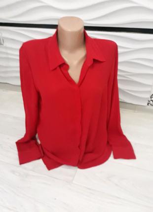 Блузка красная размер 12