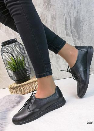 Натуральные туфельки новинка