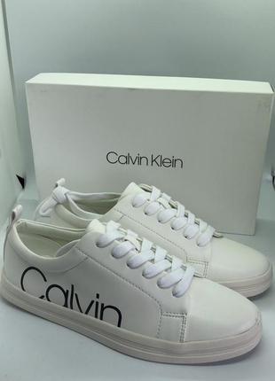 Белые кеды бренд calvin klein® оригинал 7 - 24 см