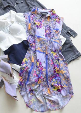 Вискозное легкое платье-рубашка minkpink