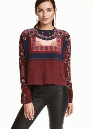 Шёлковая блуза h&m