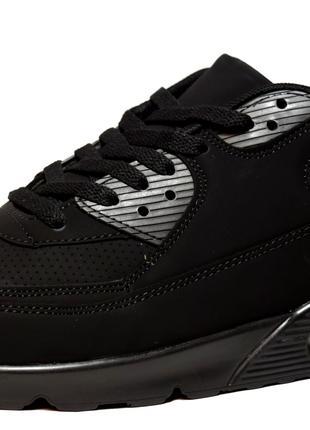 Кроссовки мужские черные реплика Nike (U-718)