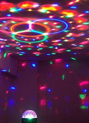Диско шар Music Ball Bluetooth светодиодный