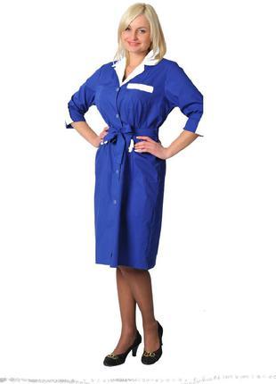 Халат рабочий женский, модельный халат, униформа