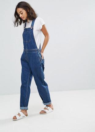 Джинсовый комбинезон джинсы бойфренд