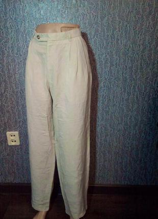 Свободные женские брюки штаны. лён.