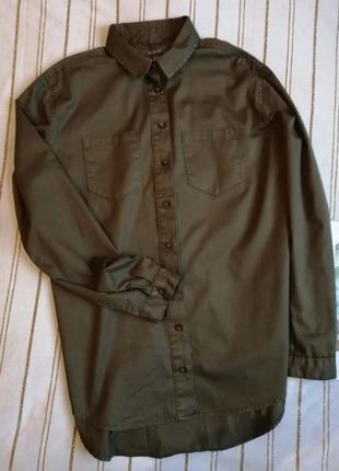 Хлопкова плотна рубашка