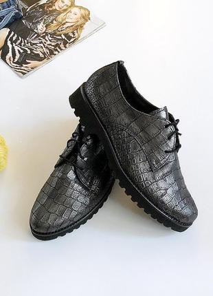 Идеальные натуральные кожаные туфли gabor (дерби, броги)