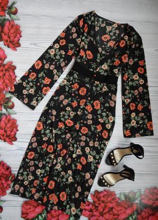 🌿нарядное, эксклюзивное платье на пуговицах в цветочный принт....