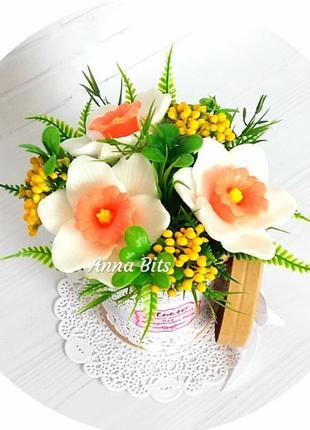 Нарциссы, цветы Ручной работы