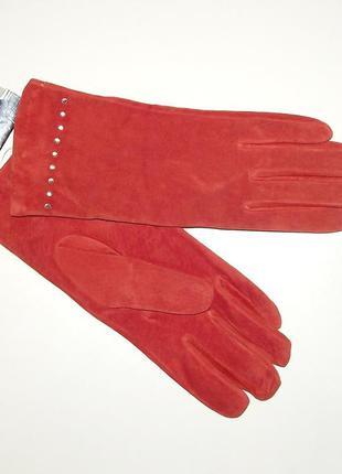 Перчатки демисезонные кожаные женские vicini