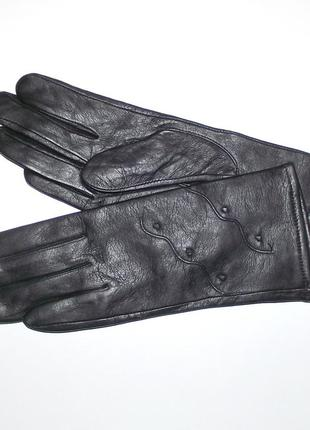 Срочно. перчатки демисезонные кожаные женские romania