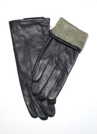 Перчатки демисезонные кожаные женские romania