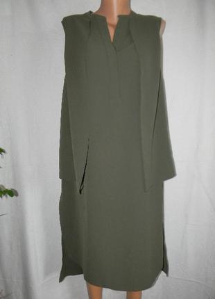 Платье рубашка хаки