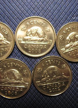 5 центов КАНАДА