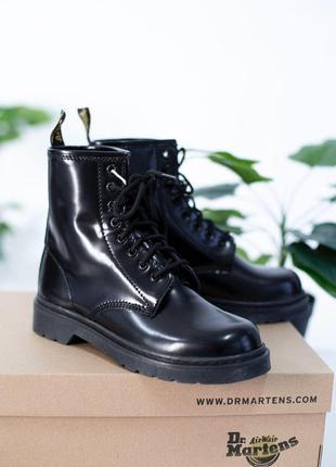 Женские ботинки dr martens full black доктор мартинс демисезон...