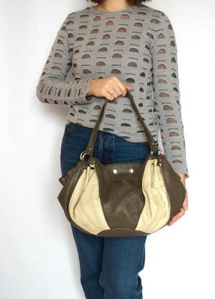Классная сумка, италия, натуральная кожа