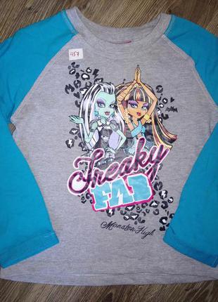 Детский свитшот, пуловер, кофта для девочки монстер хай mattel