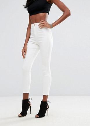 Штаны джинсы на высокой посадке бренда missguided (2050)