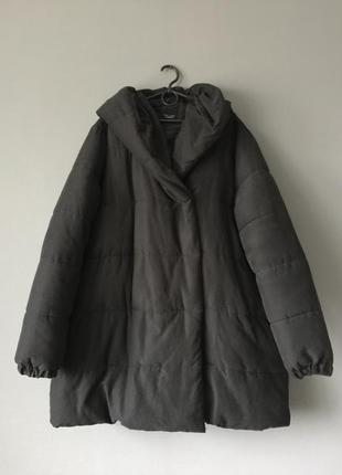 Объемное пальто пуффер куртка new look 16--52 размер.