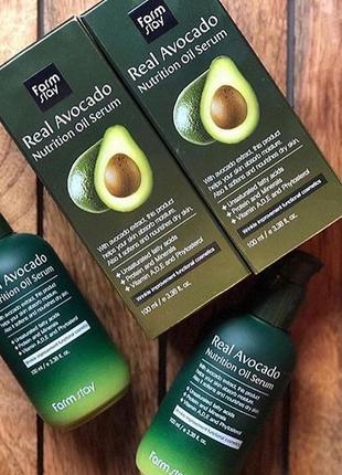 🥑✨питательная сыворотка с маслом авокадо farm stay , 100 мл