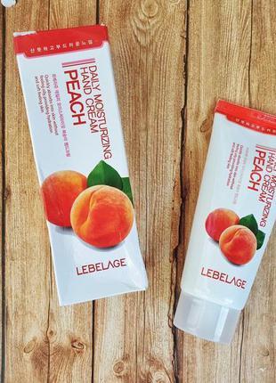 Lebelage 🍑увлажняющий крем для рук с экстрактом персика