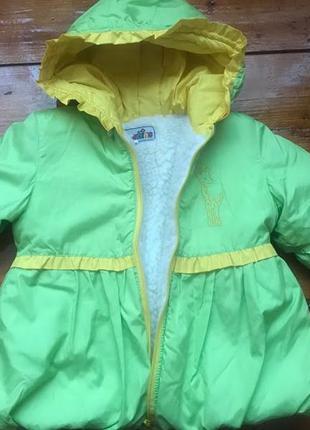 Курточка на овчине для девочки