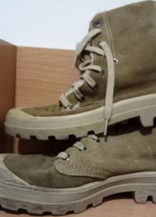 Ботинки замшевые утепленные