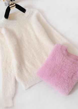 Пушистый свитер травка ангора