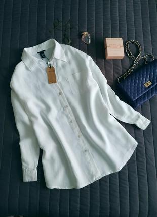 Льняная рубашка с длинным рукавом (100% лён)