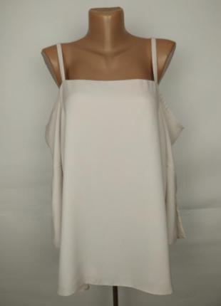 Блуза кремовая новая красивая с открытыми плечами river island...