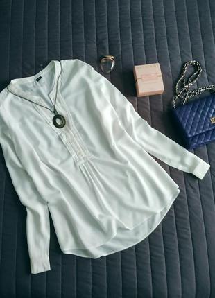 Белая блуза, рубашка с длинным рукавом (100% вискоза)