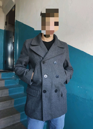 Мужское теплое шерстяное пальто GAP