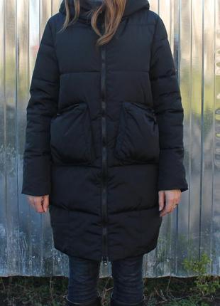 Новая крутая зимняя куртка, пальто, пуховик черный