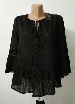 Блуза новая красивенная хлопковая new look uk 14/42/l