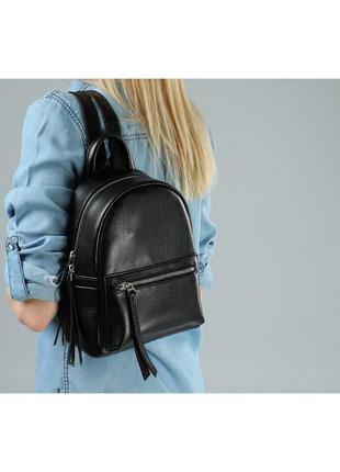 Черный женский рюкзак со змейкой