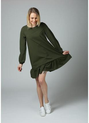 Летнее платье цвета хаки