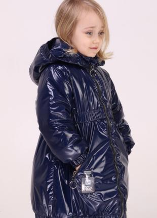 Модные демисезонные куртки - пальто для девочек 3-6 лет