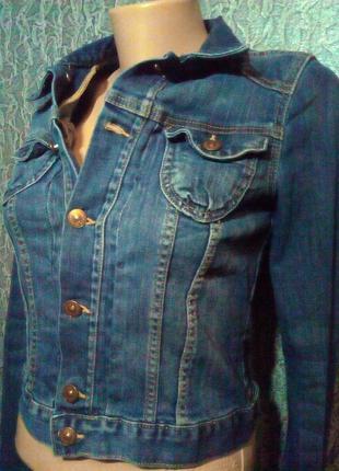 Джинсовая куртка пиджак. jacket.