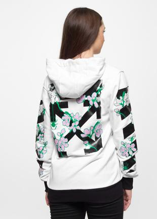 Худи Off White - Sakura, White