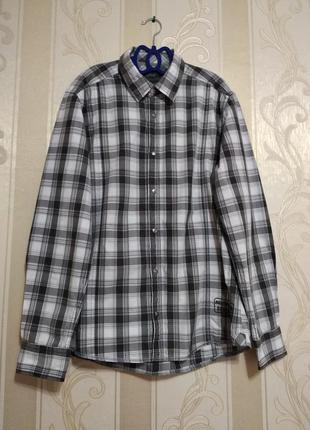 Фирменная мужская рубашка с надписью на кнопках, esprit, герма...