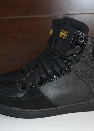 G-star raw 37р ботинки сникерсы кеды кожаные. оригинал