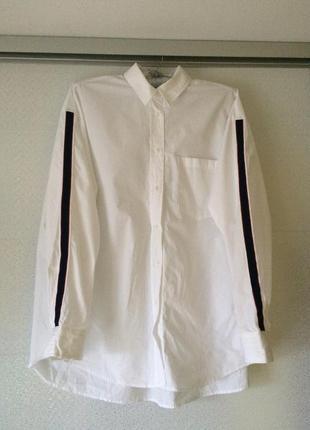Біла блуза сорочка рубашка оверсайз