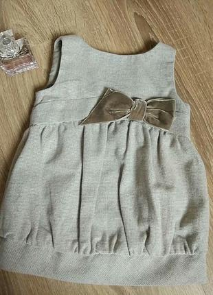 Нарядное стильное платье на девочку 6-9 мес. от zara